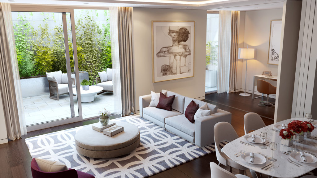 Outlet Residential London luxury house with courtyard garden