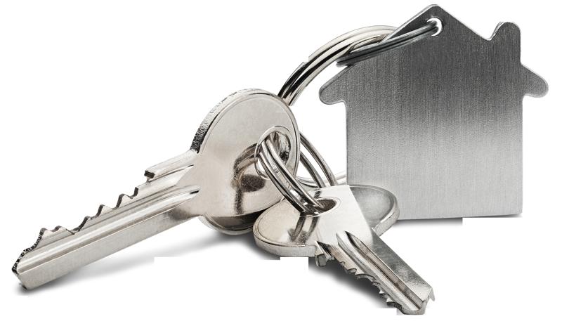 keys with house keyring